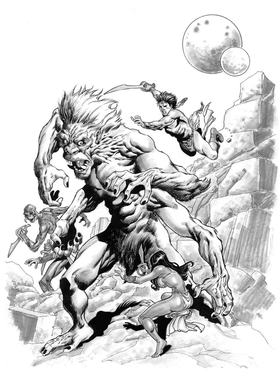 John Carter and the White Ape by aaronlopresti