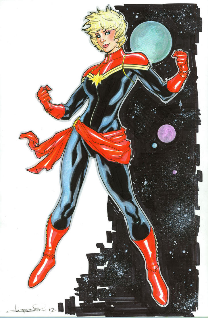 New Captain Marvel by aaronlopresti