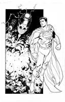 Superman Pin Up by aaronlopresti