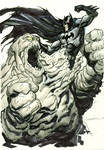 Batman vs Clayface Sketch