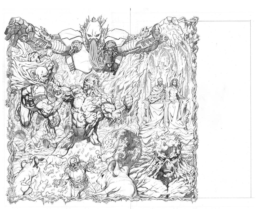 Swamp Thing Promo Pencil by aaronlopresti