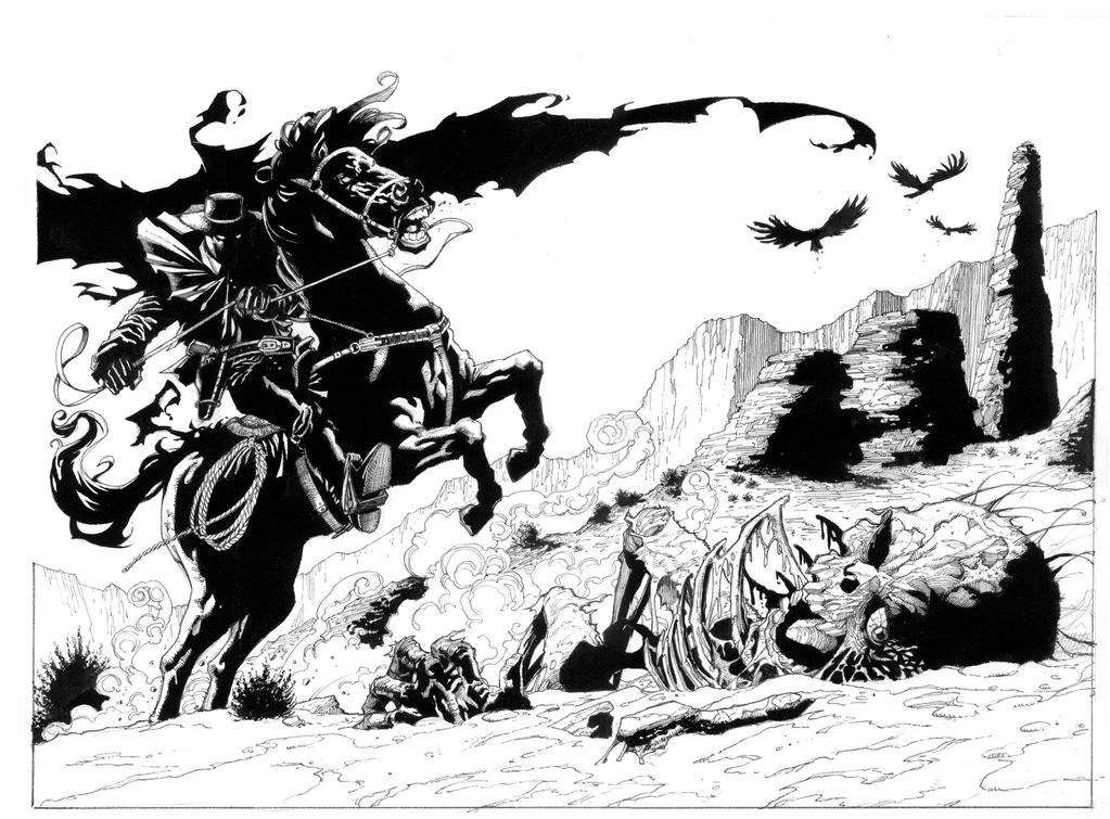 Western Ghost Rider Re-boot page 2/3 by aaronlopresti