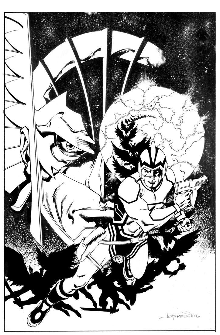 Hawkman/Adam Strange #2 Cover by aaronlopresti