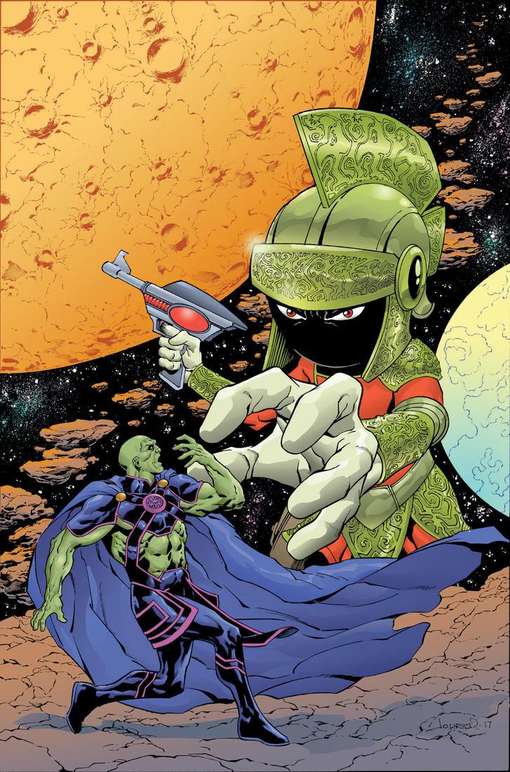 Marvin Martian/Martian Manhunter by aaronlopresti