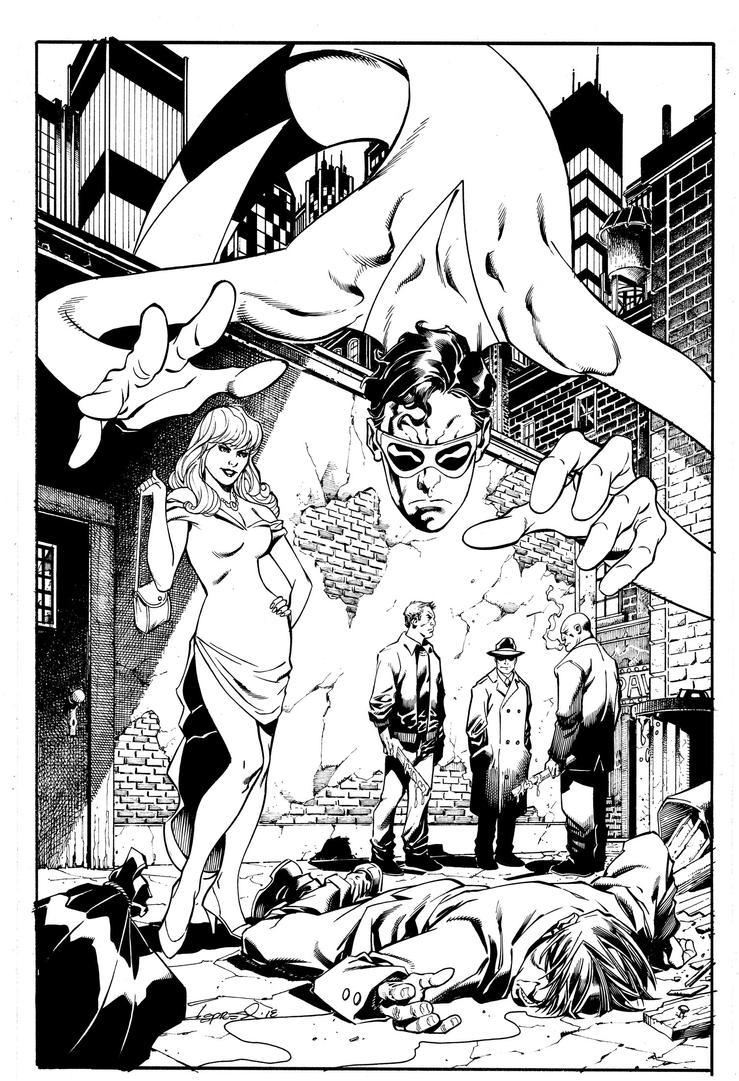 Plastic Man  #1 Cover Inks by aaronlopresti