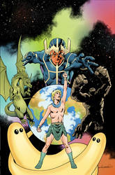 Future Quest Presents #9: THE HERUCLOIDS  Cover Ar by aaronlopresti