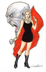 Buffy the Vampire Slayer Commission by aaronlopresti