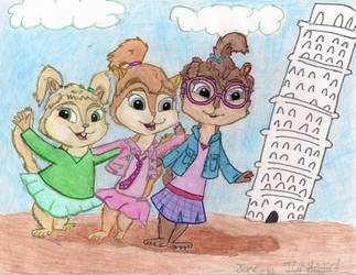 At the Leaning Tower by Turtlegirl5