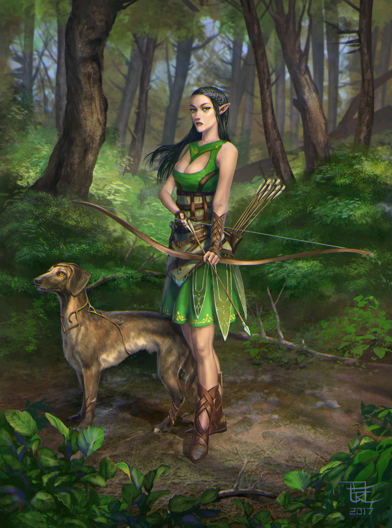 Elven huntress 2 by yoggurt