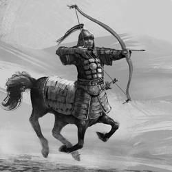Mongol archer centaur