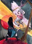 Epic Battle: Cherry vs Shell by Lechtonen