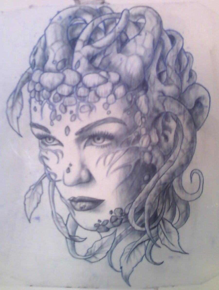 Tree girl tattoo practice skin by lauraxavier on deviantart for Practice skin for tattooing