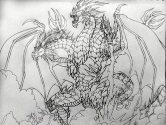 King Ghidorah by The-MuseDragon