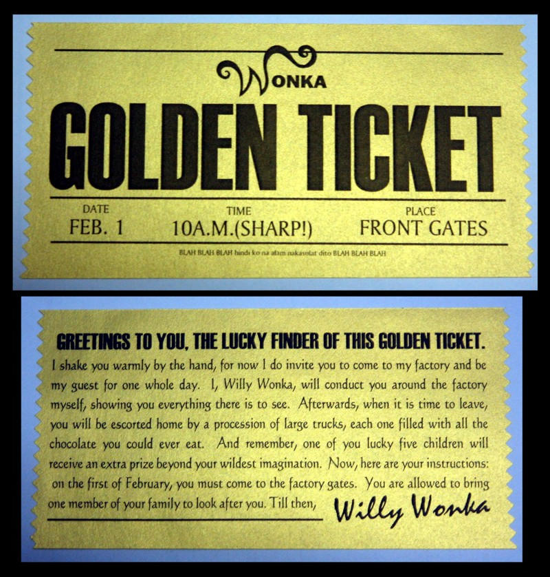 Fan image in willy wonka golden ticket printable