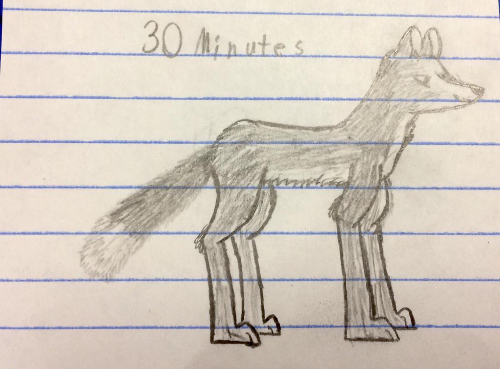 Fox drawing  by Fierce-Thunder