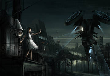 lost in dark city by BBaumhauer