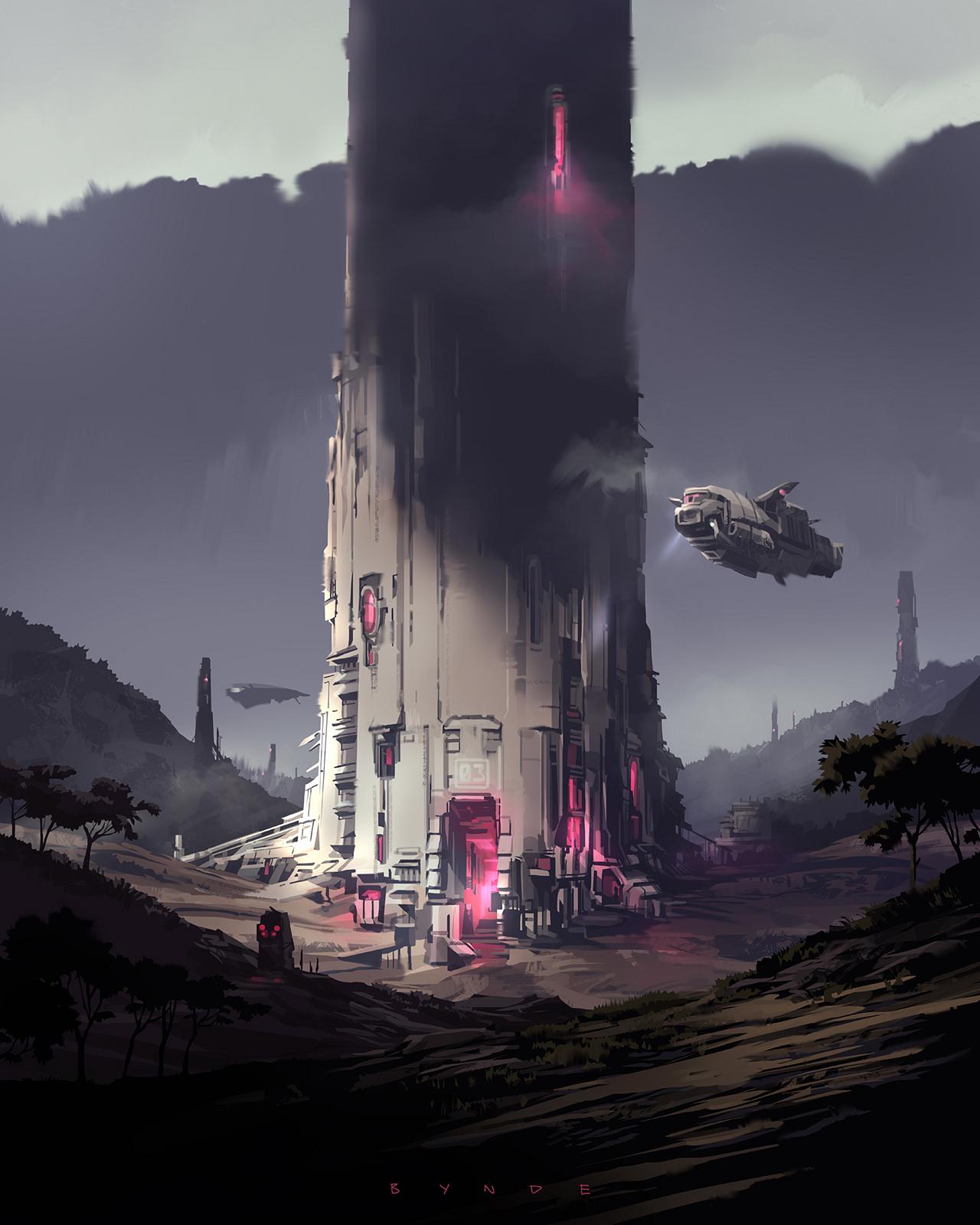 Magenta Tower 03