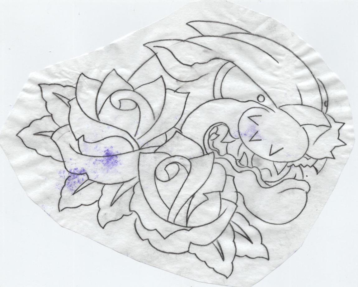 Plumeria wall stencil