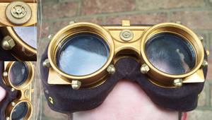 Steampunk Goggles by hrekkjavakaastarkort