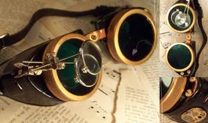 Steampunk Goggles II by hrekkjavakaastarkort