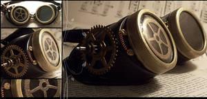 Steampunk Cog Goggles by hrekkjavakaastarkort