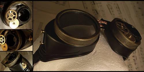 Steampunk Lens Goggles by hrekkjavakaastarkort