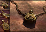 Brass Perfume Bottle Necklace