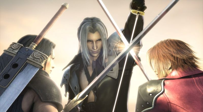 Final Fantasy Sephiroth vs Genesis and Angeal by fullmoonwolf