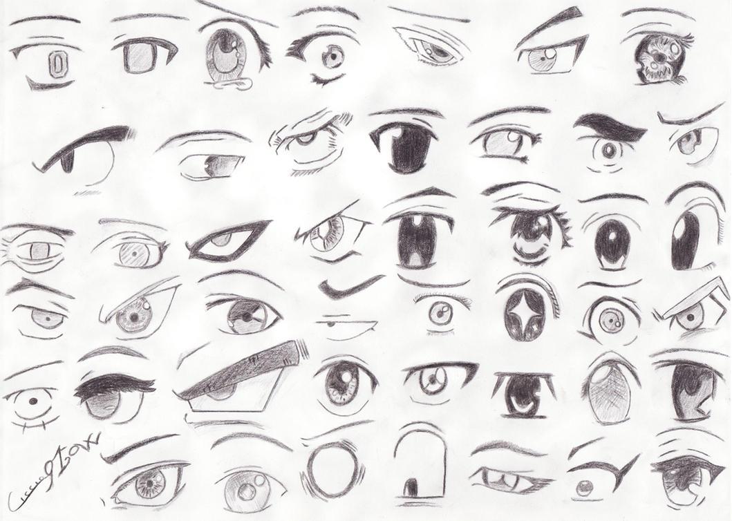 45 Manga Eyes By Ciccio91gow On Deviantart