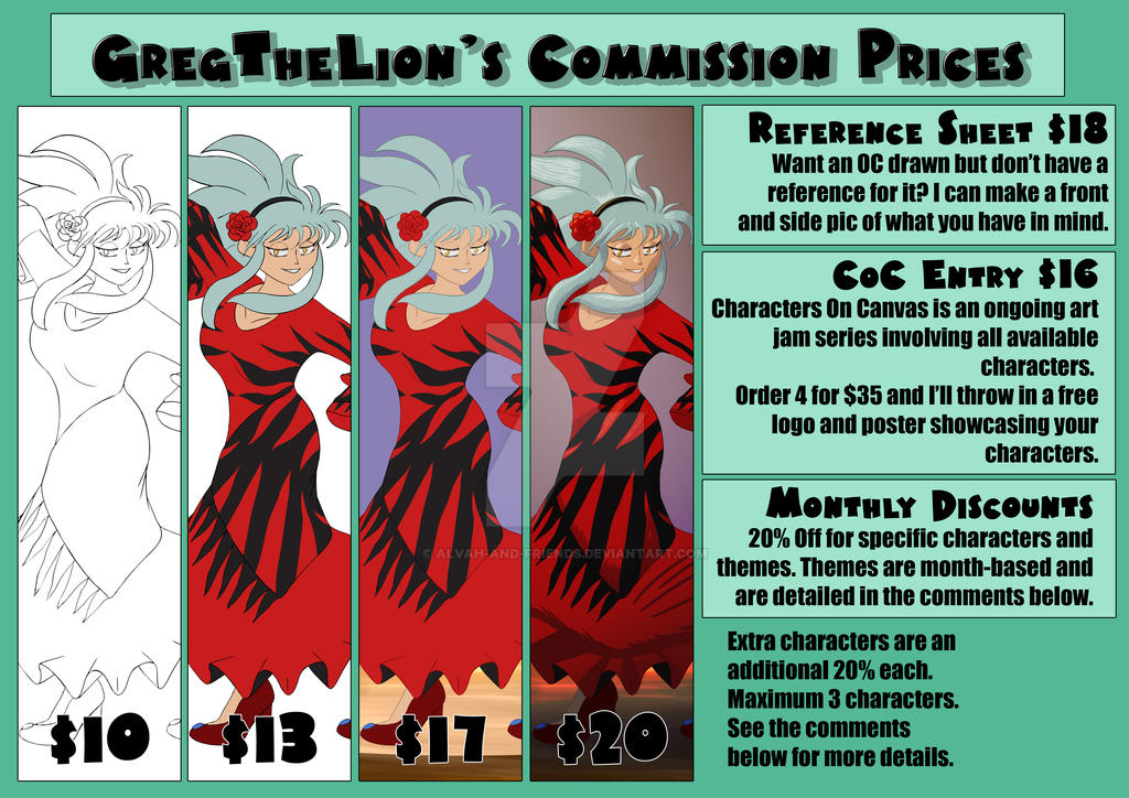 Commission Prices 2016 by Alvah-and-Friends