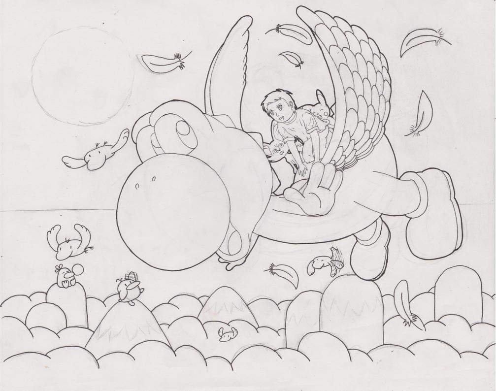 Gift art Lineart by animefan-no1