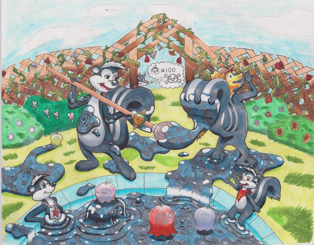Pepe le Pew Super Mario Sunshine Paint Skunk TF by animefan-no1