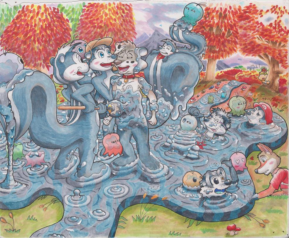 Pepe le Pew Paint/Goop Skunk TF Part 2 Follow Up by animefan-no1
