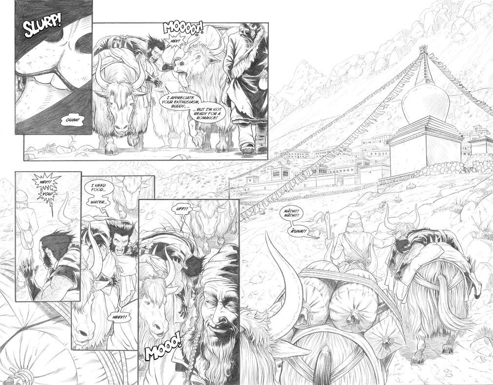 Wolverine's Nightmare 12 and 13 by alexfemenias