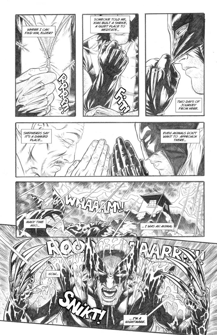 Wolverine's Nightmare page 20 by alexfemenias