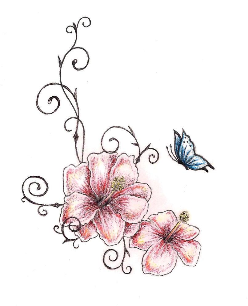 Hibiscus Tattoo By Tashitam On Deviantart