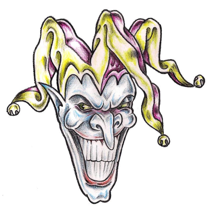 Syella: Knowing Evil Jester Tattoo Designs