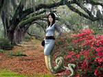 Jing Tian as a naga girl