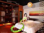Naga in bedroom