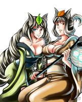 Yuzuruha and Kongiku by ParSujera