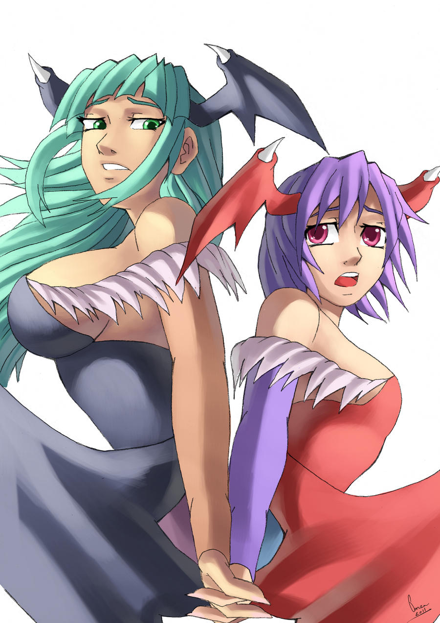 Morrigan And Lilith by ParSujera