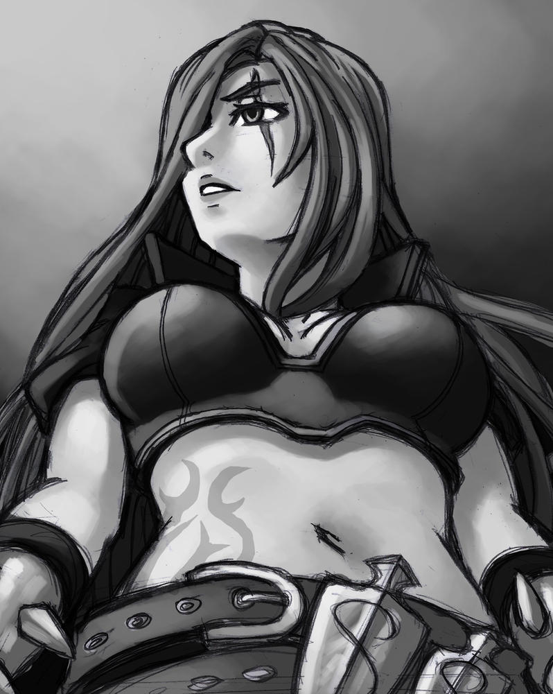 Katarina Sketch by ParSujera
