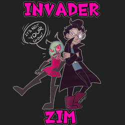 Invader Zim (dib is there too sometimes) by IamAPolypeptide