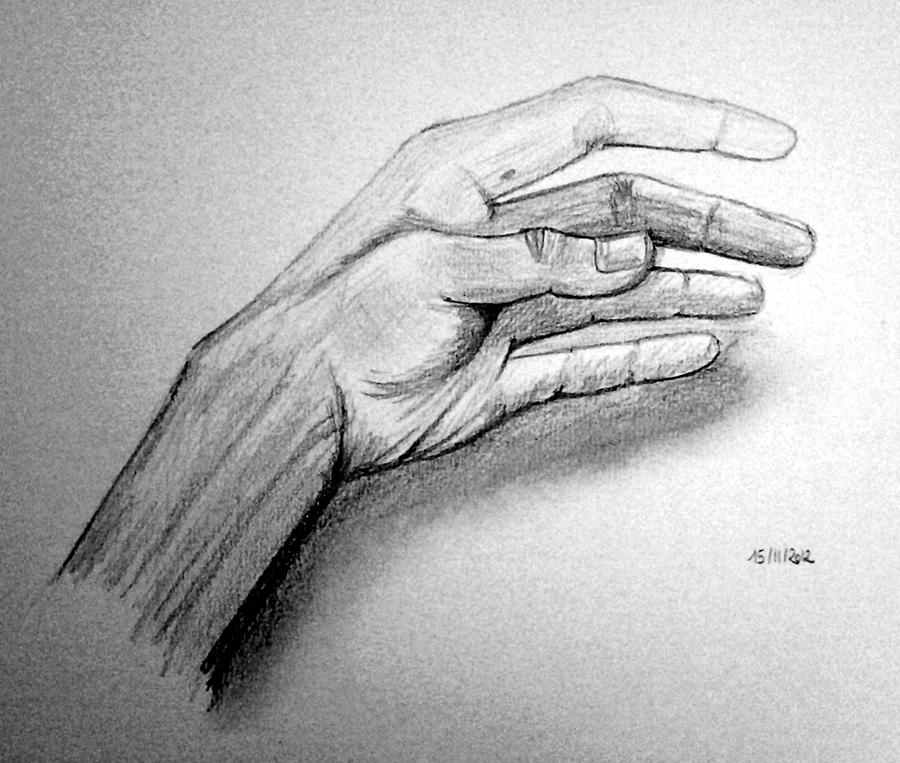 Left hand  pencil draw...