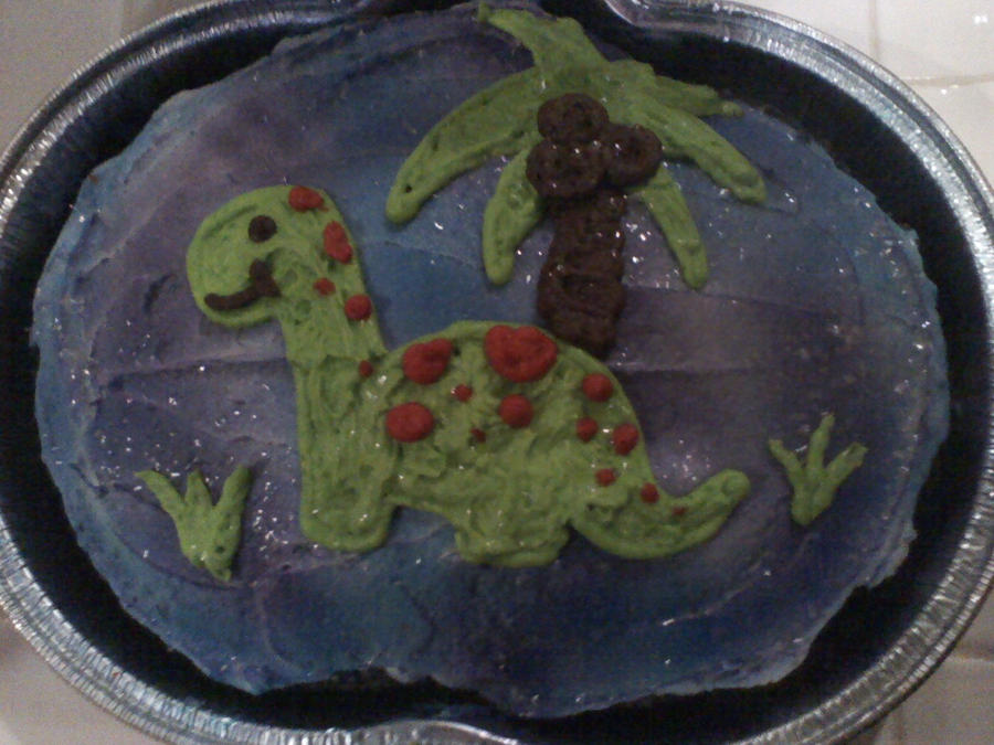 Dinosaur Cake by KK-koolness