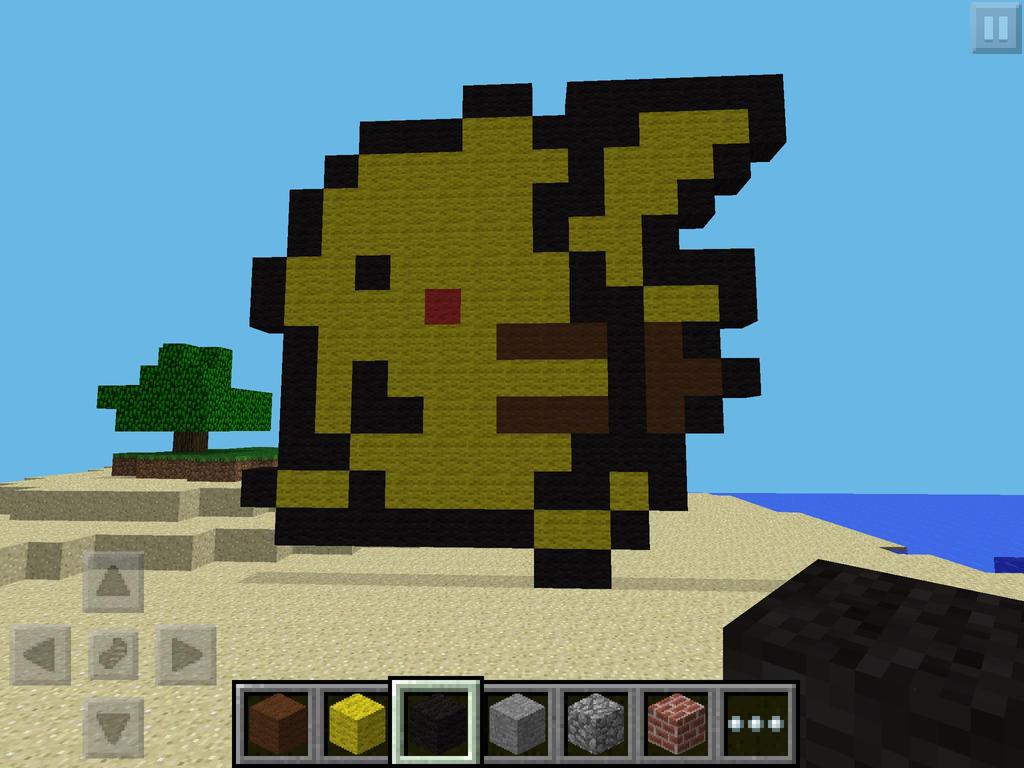pixel art for mcpe