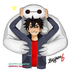 Hiro and Baymax by LadyNamy
