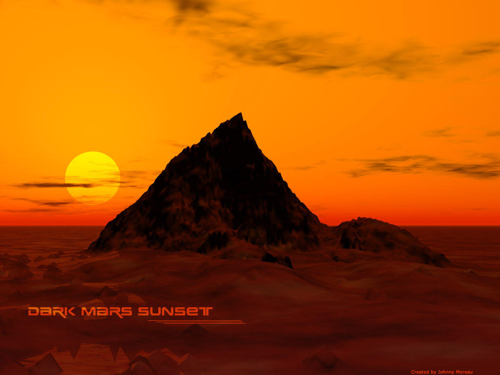 Dark mars sunset by ilfirin on deviantart - Mars sunset wallpaper ...