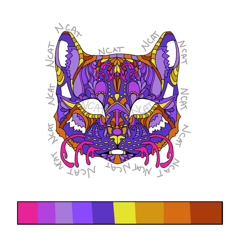 Cat Design Pin by Laufeiia