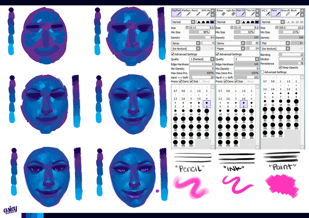Step-By-Step Face (SAI). by asieybarbie